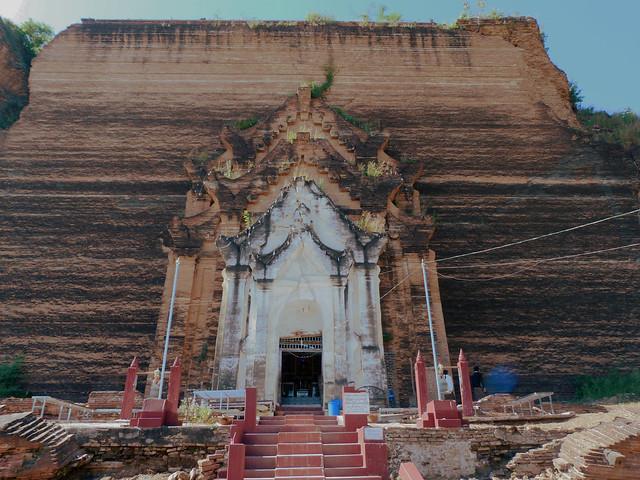 Pagoda Pahtodawgy o Pagoda inacabada de Mingun (Myanmar)