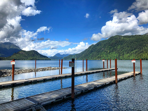 waterfront mountains trees bluesky viewpoint clouds nature view water lakefront missionbc mission britishcolumbia pier dock docks lake