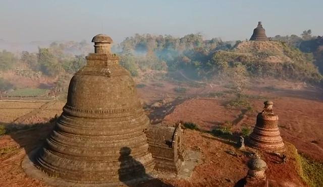 Templos de Mrauk U en Myanmar