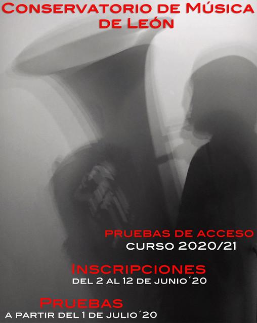 PRUEBAS DE ACCESO AL CONSERVATORIO DE LEÓN - CURSO 20/21