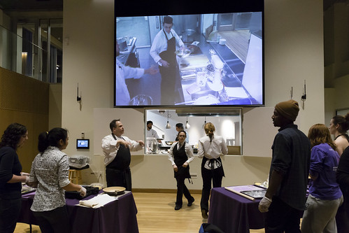 Interterm Students Learn to Cook in Greenway's New Demonstration Kitchen