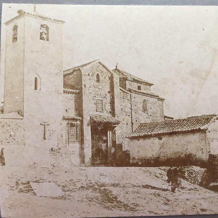 Iglesia de San Lucas en 1906. Fotografía de Hans Leyden. Colección personal de Luis Alba