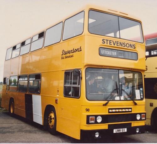 UWW 6X 'Stevensons Bus Services' No. 98. Leyland Olympian / Eastern Coachworks on Dennis Basford's railsroadsrunways.blogspot.co.uk'