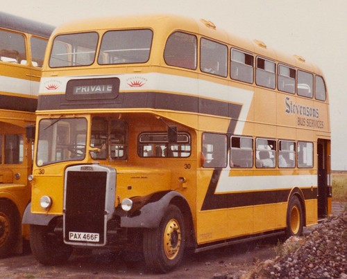 PAX 466F 'Stevensons Bus Services' No. 30. Leyland PD3 / Massey Lowbridge on Dennis Basford's railsroadsrunways.blogspot.co.uk'