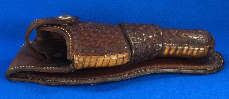 RD30377 Vintage Eubanks Brown Leather Basketweave Holster 820  4 DSC06312