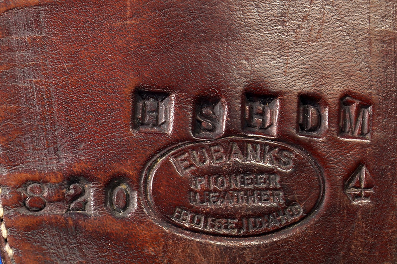 RD30377 Vintage Eubanks Brown Leather Basketweave Holster 820  4 DSC06306