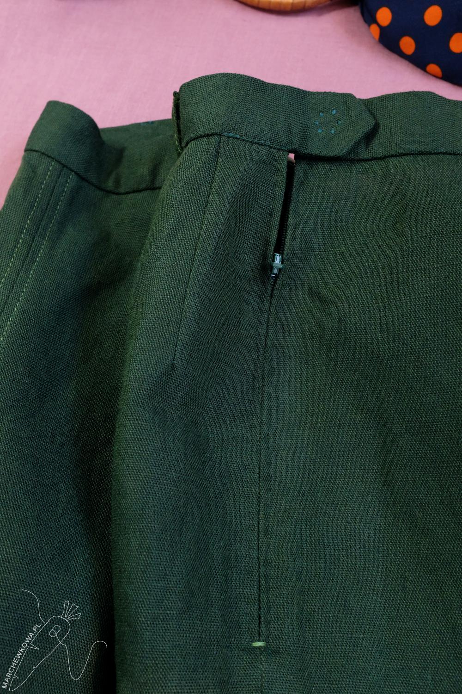 marchewkowa, Wrocław, szycie, krawiectwo, tu się szyje, moda retro, spódnico-spodnie, sewing, vintage, 1950s, culotte, split skirt, Burda, pattern