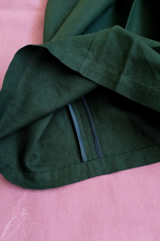 marchewkowa, Wrocław, szycie, krawiectwo, tu się szyje, moda retro, spódnico-spodnie, sewing, handmade, 1950s, culotte, split skirt, Burda, pattern