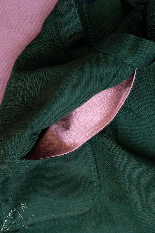 marchewkowa, Wrocław, szycie, krawiectwo, tu się szyje, moda retro, spódnico-spodnie, sewing, DIY, 1950s, culotte, split skirt, Burda, pattern