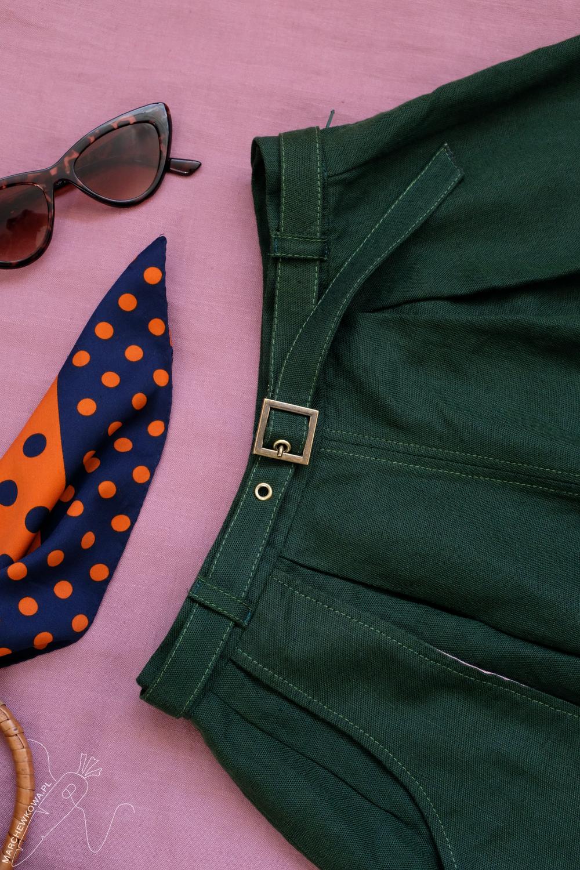 marchewkowa, Wrocław, szycie, krawiectwo, tu się szyje, moda retro, spódnico-spodnie, sewing, DIY, 1950s, culotte, split skirt, Burda, pattern, Prym Fashion