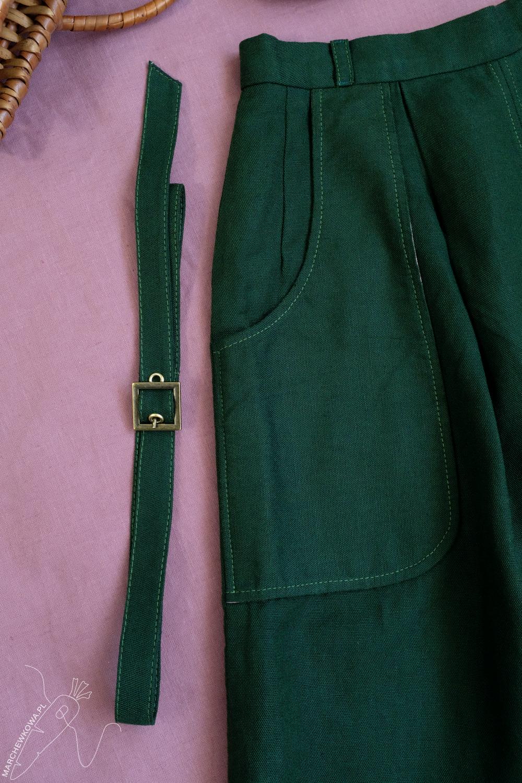 marchewkowa, Wrocław, szycie, krawiectwo, tu się szyje, moda retro, spódnico-spodnie, sewing, DIY, 1950s, culotte, split skirt, Burda, pattern, Prym Fashion,