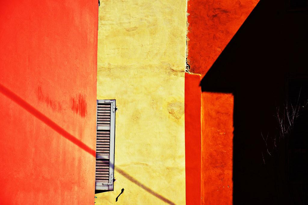 Half window and  half shadow