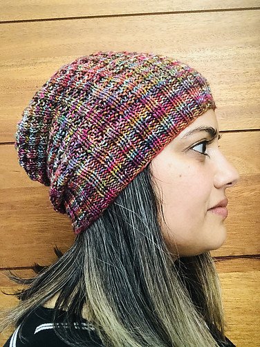 Just look at JulyChic's Violet Waffle Hat knit using Malabrigo Arroyo shows off the beauty of the yarn!
