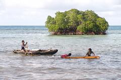 At play in Chuuk lagoon, Micronesia