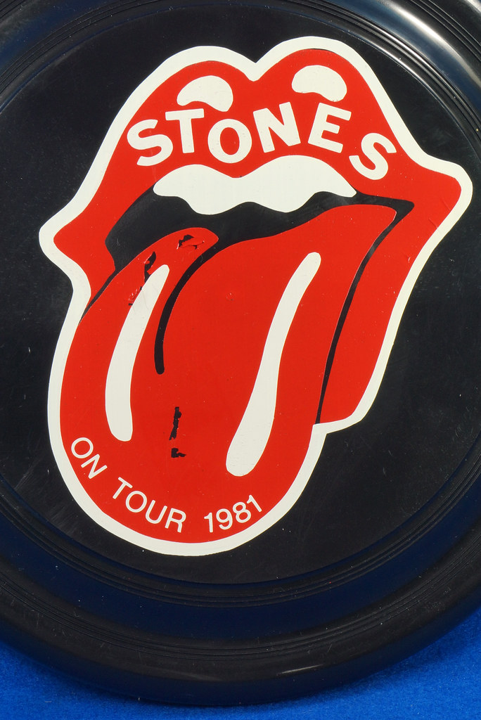 RD28299 Vintage 1981 The Rolling Stones On Tour Frisbee Throwing Disk Very Rare DSC06287