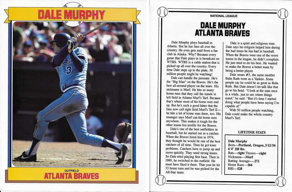 1984 Baseball Superstars Album Poster - Murphy, Dale