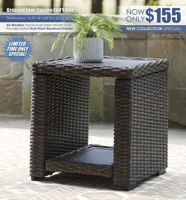 Grasson Lane Outdoor Square End Table_P783-702