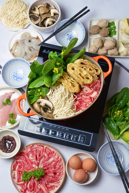 Steamboat hotpot at home