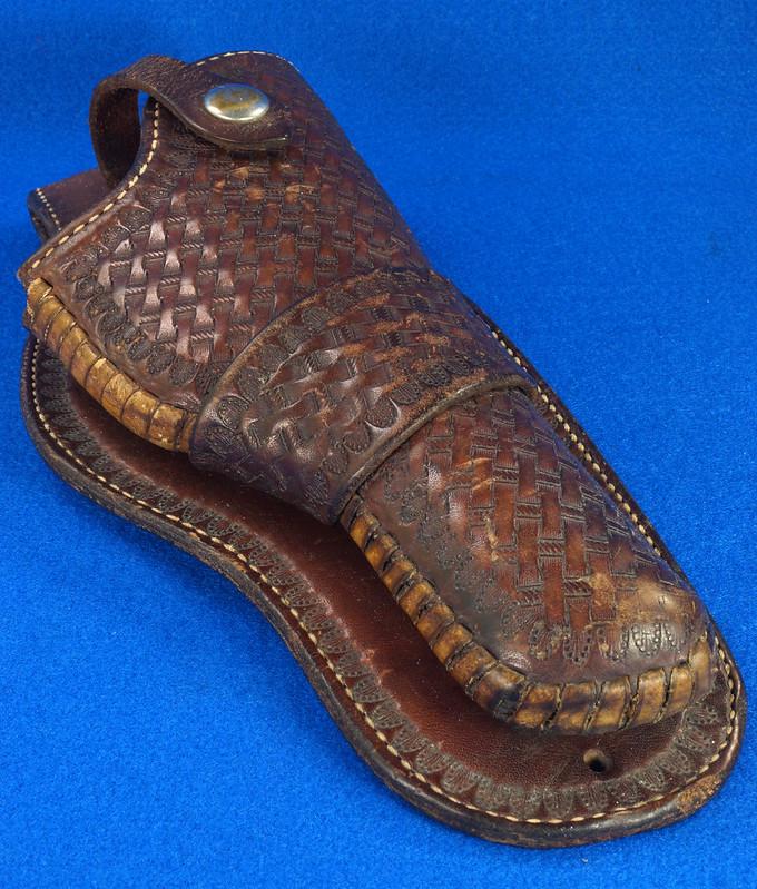 RD30377 Vintage Eubanks Brown Leather Basketweave Holster 820  4 DSC06313