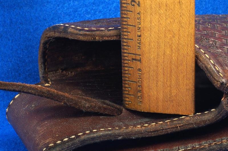 RD30377 Vintage Eubanks Brown Leather Basketweave Holster 820  4 DSC06310