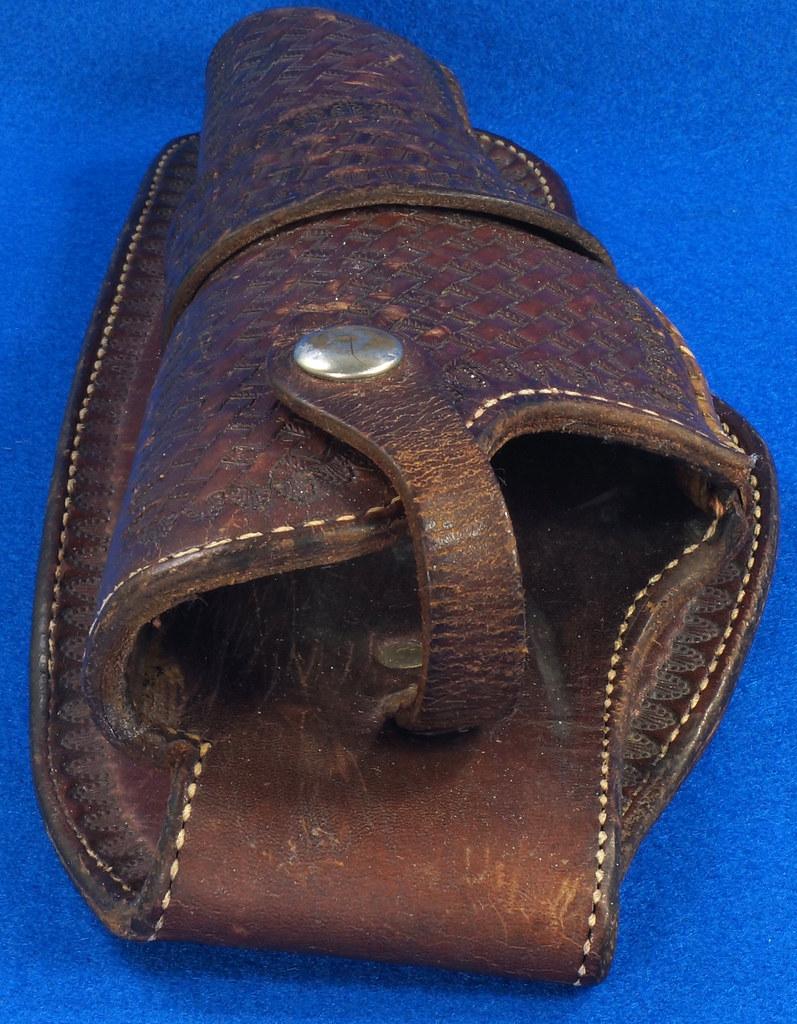 RD30377 Vintage Eubanks Brown Leather Basketweave Holster 820  4 DSC06308