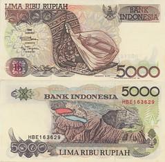 1992 - 5000 Rupiah