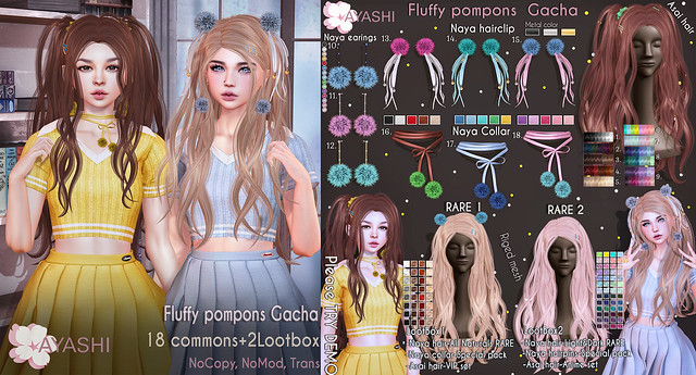[^.^Ayashi^.^] Fluffy pompons Gacha special for LootBox