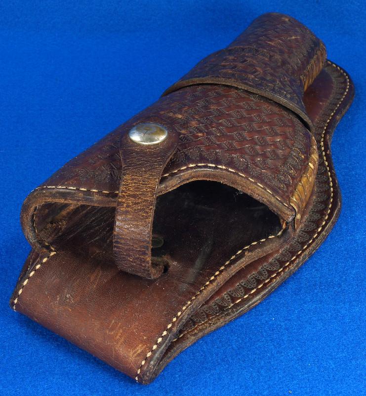 RD30377 Vintage Eubanks Brown Leather Basketweave Holster 820  4 DSC06314