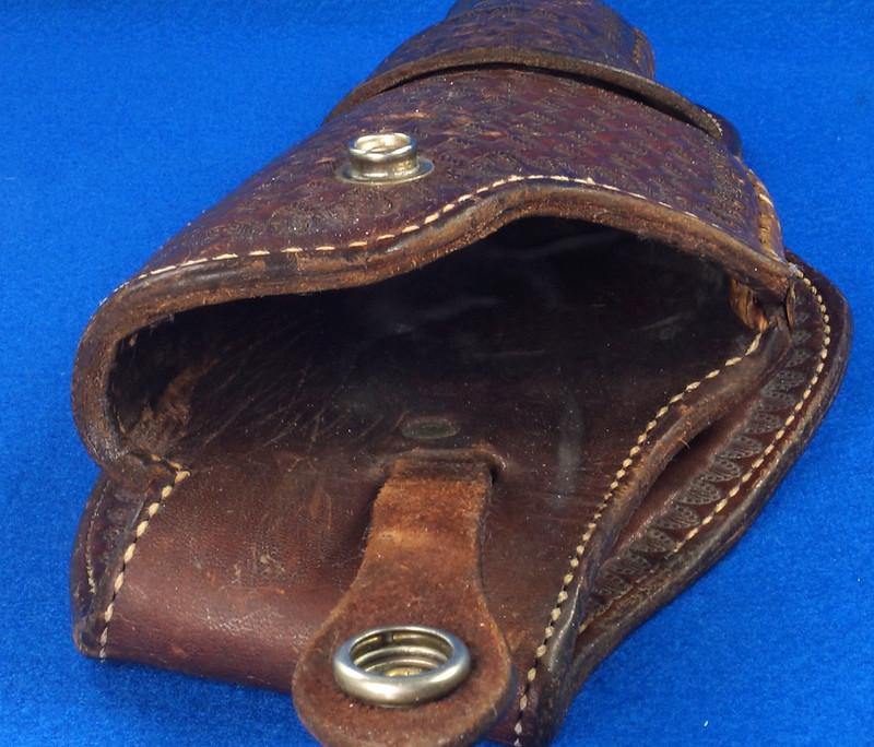 RD30377 Vintage Eubanks Brown Leather Basketweave Holster 820  4 DSC06309