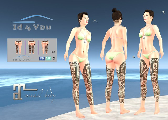 [Id4You] Tattoo Applier - Leg 7 (Maitreya-Lara)