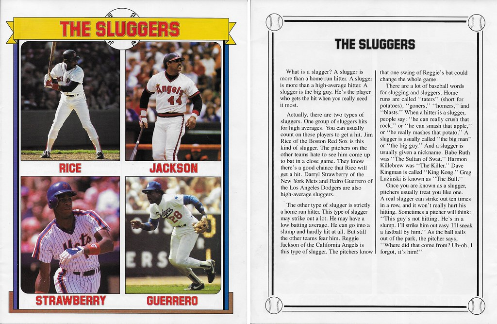 1985 Baseball Superstars Album Posters - Rice, Jim Strawberry etc