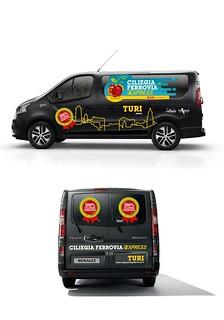 Il progetto dei  furgoni brandizzati