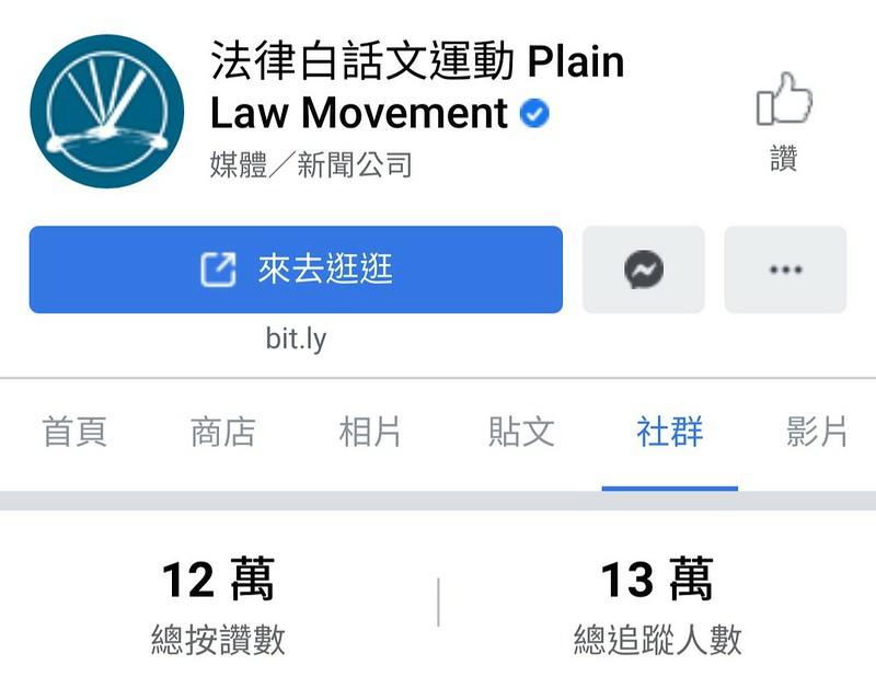 法白臉書累積至十二萬粉絲,受眾以年輕讀者居多。圖/截取自網路