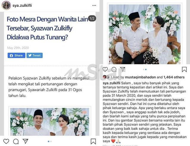 Syazwan Zulkifly Putus Tunang, Kini Dah Ada Pengganti