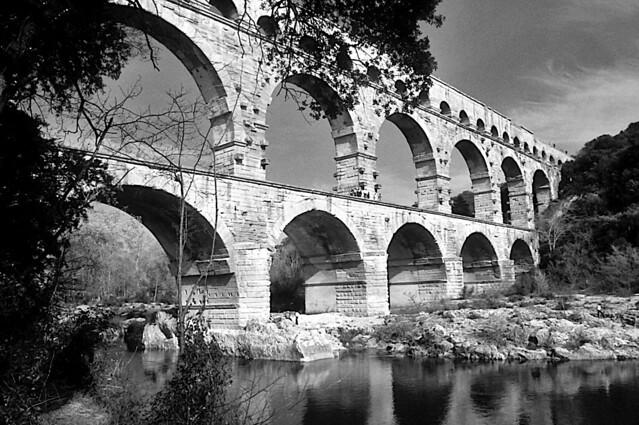 Pont du Gard 3 - BW-Edit (Explored 31.05.2020)