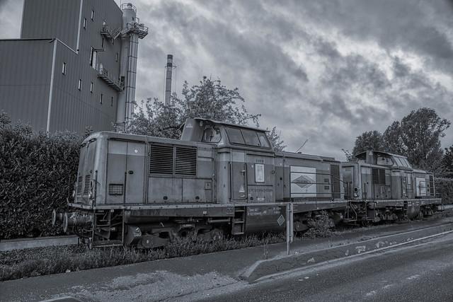 Locomotive diesel ex V100, Bonneuil/Marne.