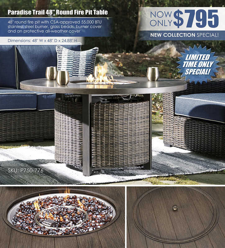 Paradise Trail Round Fire Pit Table_P750-776