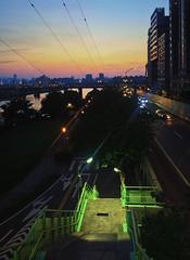 Sunset by Zhongzheng Bridge 中正橋 in Taipei