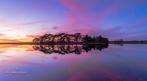 Hatchett pond sunset
