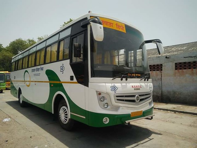 Semi Deluxe Star line Bus. This RSRTC
