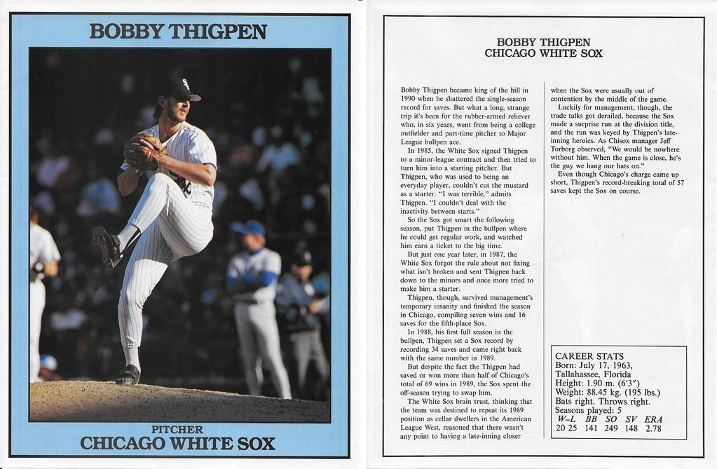 1991 East End Publishing Baseball Superstars Album - Thigpen, Bobby