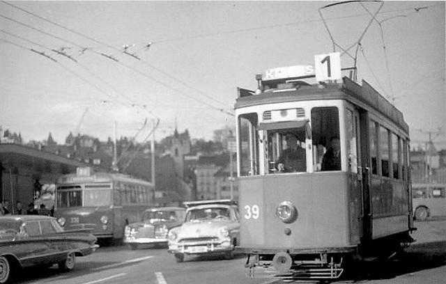 Trams de Lucerne (Suisse)