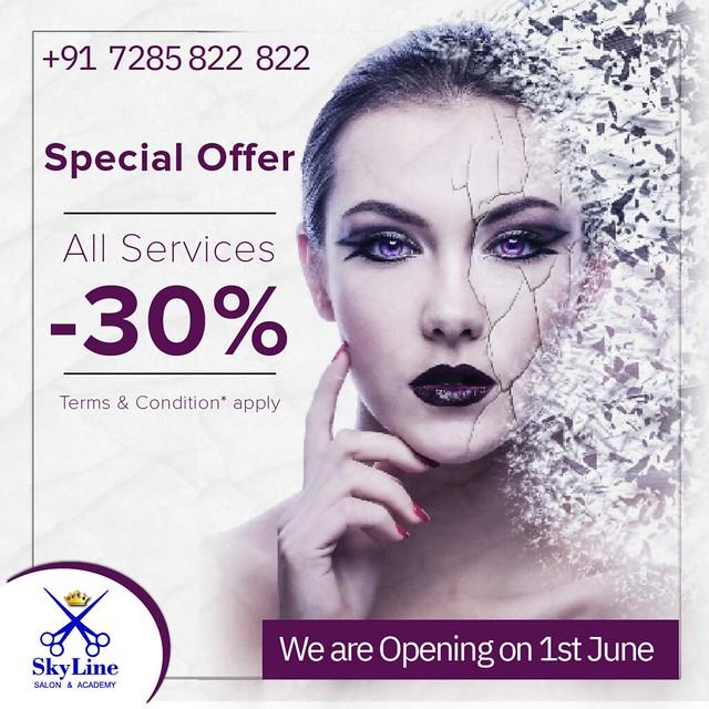 Hair Salon Deals in Surat   SkyLine Saloon