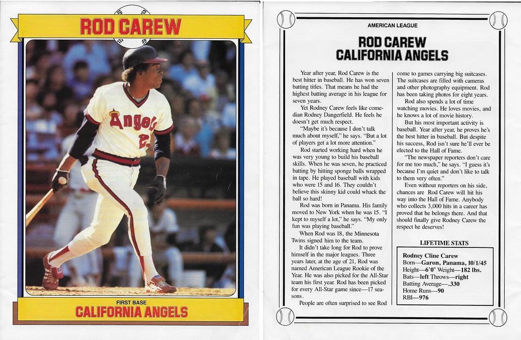 1985 Baseball Superstars Album Posters - Carew, Rod