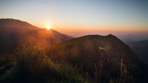 sri lanka asia ella sunrise sky tourism scene mountain hill morning horizon scenic ceylon