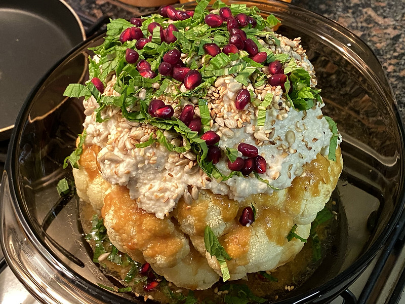 Miso cauliflower bomb