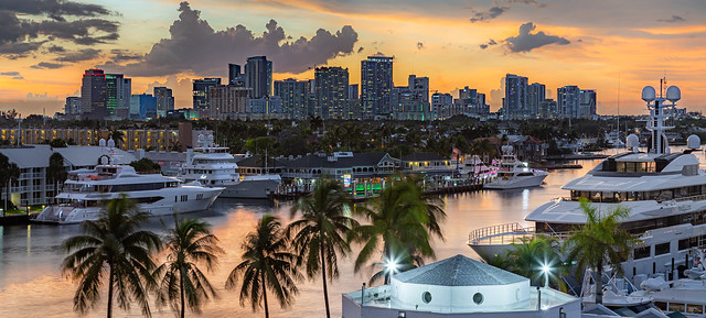 Sunset in Fort Lauderdale, Florida