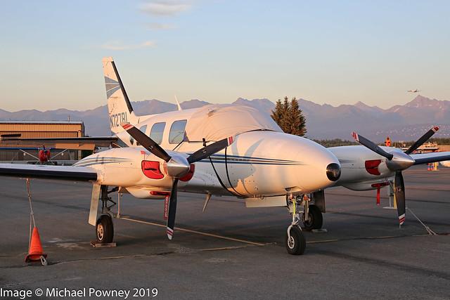 N727RL - 1976 build Piper PA-31-325 Navajo C/R, parked at Lake Hood