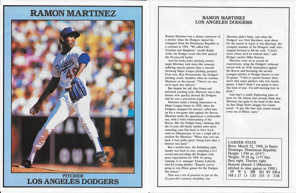 1991 East End Publishing Baseball Superstars Album - Martinez, Ramon