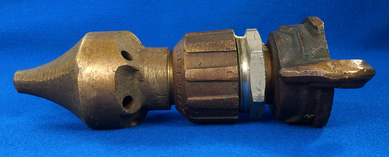 RD19793 Vintage Brass A.J. Coleman Chicago 6 Hole Pipe Clearing Cleaning Water Nozzle DSC06377